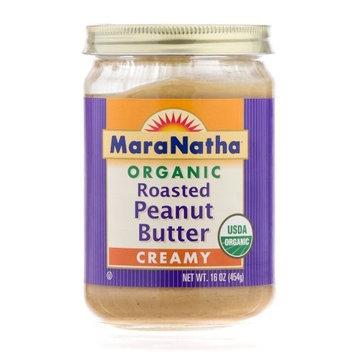 Maranatha Natural Foods Organic Peanut Butter, No Salt Added 16 oz. (Pack of 12)