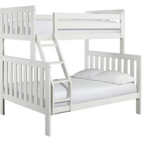 Canwood Furniture Lakecrest Twin Over Full Bunk Bed Finish: White