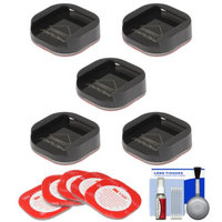 Replay XD SnapTray Convex (5 Pack) with 3M Mount Adhesive + Cleaning Kit for Replay XD 1080 Mini, XD 1080, XD 720 Action POV Camcorders