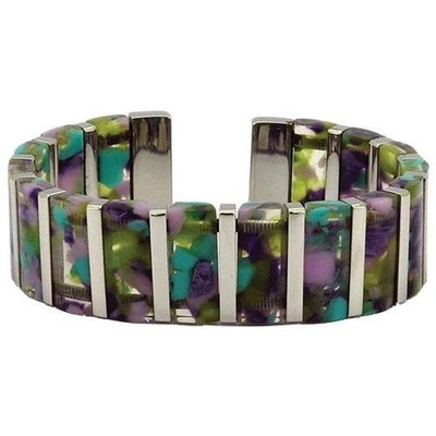 Serenity2000 10165 Magnetic Fashion Bangle- Blue Safari Standard Size