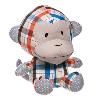 Blossom and Buds Monkey Patterned Cotton Plush