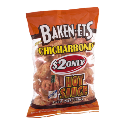 Baken-Ets Chicharrones Hot Sauce Fried Pork Skins
