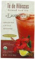 Davidson's Tea Davidson Organic Tea 5283 Fdsvc Brewed Te De Hibiscus Tea 1 Qt.