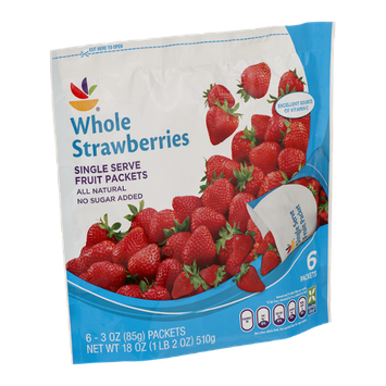 Ahold Whole Strawberries Single Serve Fruit Packets