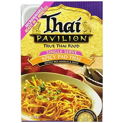 Thai Pavilion Single Serve Microwavable Spicy Pad Thai, 2.79-Ounce Boxes (Pack of 6)