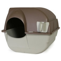 Omega Roll 'n Clean Litter Box - Pewter