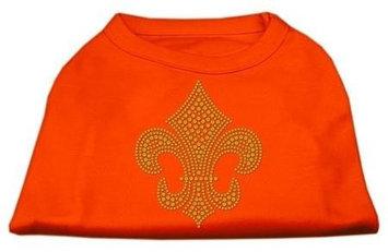 Ahi Gold Fleur de Lis Rhinestone Shirts Orange XXXL (20)