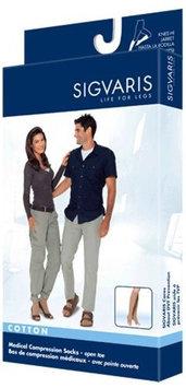 Sigvaris Cotton 232CXSO66 20-30 mmHg Open Toe Socks Crispa - Extra Large Short