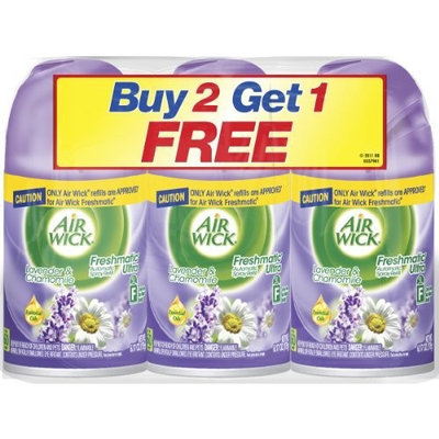 Air Wick Freshmatic Ultra Refill, Lavender, 6.17 Ounce, 3 Count