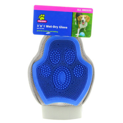 Top PawA 3'n'1 Wet-Dry Glove Dog Brush