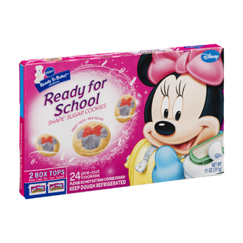 Pillsbury Ready to Bake! Ready for School Disney Shape Sugar Cookies - 24 CT