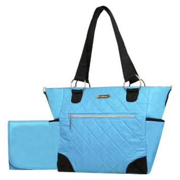 Wendy Bellissimo Quilted Tote Diaper Bag - Turquoise