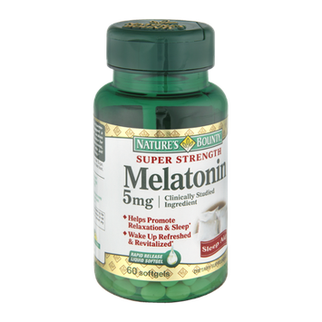Nature's Bounty Melatonin Super Strength 5mg Sleep Aid Dietary Suppelement Rapid Release Liquid Softgels - 60 CT