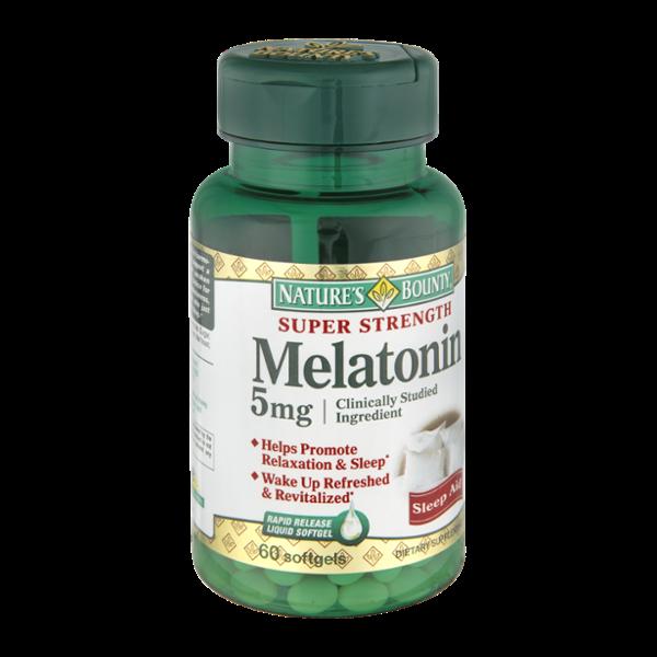 sleep melatonin bounty aid liquid super softgels release nature natures aids