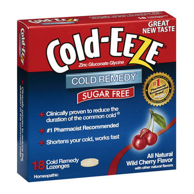 Cold-Eeze Cold Remedy Natural Wild Cherry Flavor Lozenges - 18 Ct
