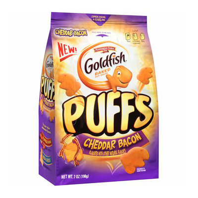 Goldfish® Puffs Cheddar Bacon Baked Puff Snacks