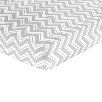 Jo Jo Designs Zig Zag Yellow and Gray Fitted Crib Sheet - Zig Zag Print