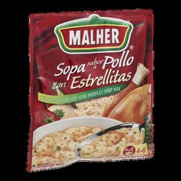 Malher Sopa sabor a Pollo con Estrellitas