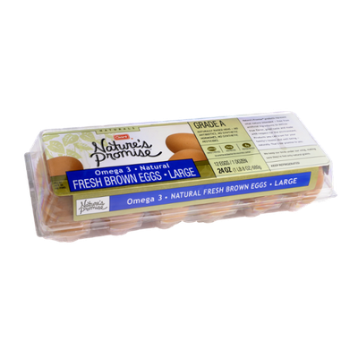 Nature's Promise Naturals Fresh Brown Eggs Omega 3 Large