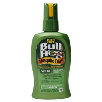 Bull Frog Mosquito Coast, Sunscreen with Insect Repellent, SPF 30, 4.7 oz