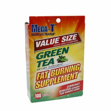 Mega-t Mega-T Green Tea Fat Burning Supplement, Value Size, Caplets