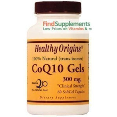 Healthy Origins CoQ10 100mg 30 Softgels (Kaneka Q10TM)