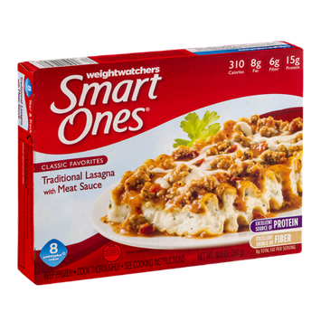 Weightwatchers Smart Ones Classic Favorites Traditional Lasagna With Meat Sauce