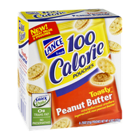 Lance 100 Calorie Toasty Peanut Butter Cracker Pouches - 6 CT