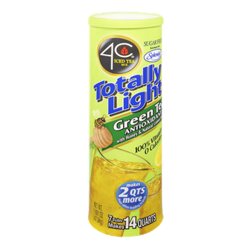 4C Totally Light Sugar Free Green Tea Antioxidant with Honey & Natural Lemon Flavor Drink Mix - 7 CT