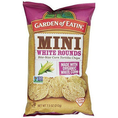 Garden of Eatin' Mini White Rounds Tortilla Chips, 7.5 Ounce (Pack of 12)