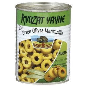 Kvuzat Yavne Olives Green Sliced, 19-Ounce (Pack of 6)