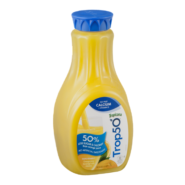 Tropicana Trop50 Orange Juice Beverage No Pulp Calcium + Vitamin D