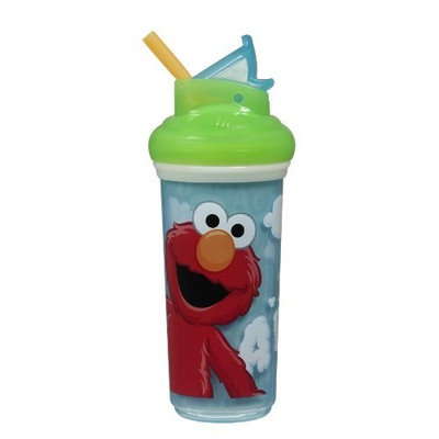 Munchkin Sesame Street Insulated Straw Cup, 9 Ounce, Colors May Vary (Discontinued by Manufacturer)