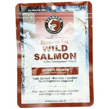 SeaBear Ready-to-Eat Sockeye Salmon, 3.5 Ounce Unit