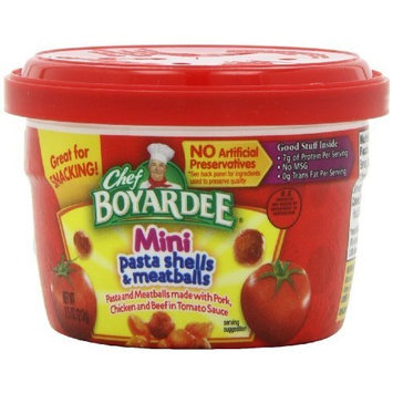 Chef Boyardee Mini-Bites Mini Pasta Shells & Meatballs, 7.5-Ounce Microwavable Bowls (Pack of 12)