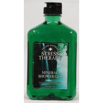 Village Naturals Therapy Village Naturals Stress Therapy Mineral Shower Gel 12.6 Oz (Pack of 3)