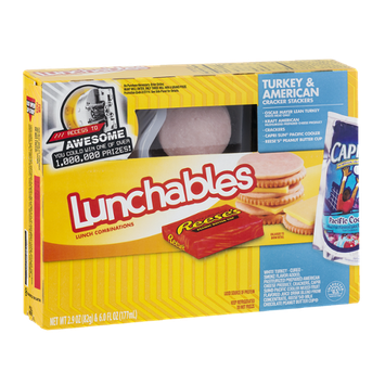 Lunchables Cracker Stackers Turkey & American