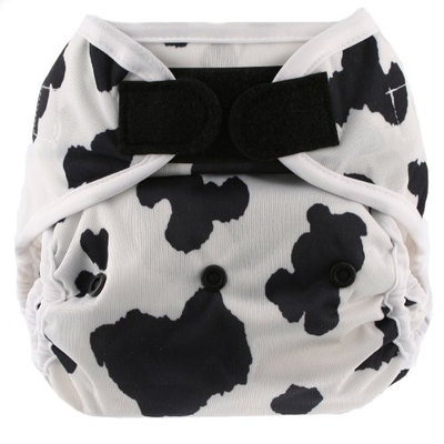 Blueberry Coveralls Hook/Loop Diaper, Cow