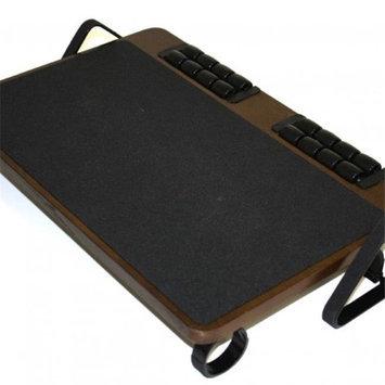 Jobri BP1250 BetterPosture Massaging Adjustable Wood Footrest - Oak