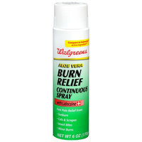Walgreens Aloe Vera Burn Relief Continuous Spray