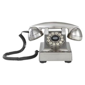 Crosley Radio Kettle Desk Phone-Brushed Chrome