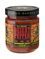 Desert Pepper Trading Company XXX Fire roasted Habanero Salsa