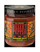 Desert Pepper Trading Company XXX Fire roasted Habanero Salsa