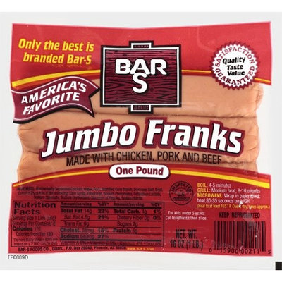 Bar-S: America's Favorite Jumbo Franks, 16 Oz