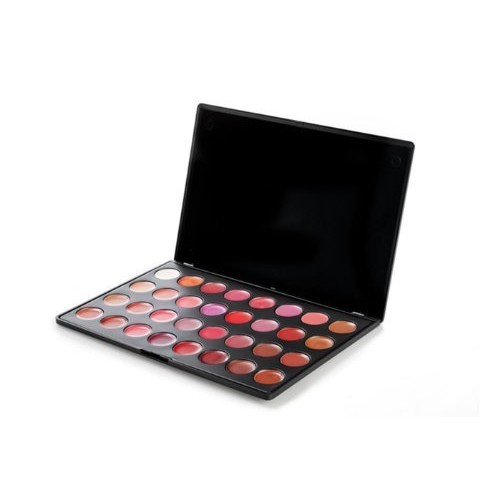 BH Cosmetics Lip Gloss Palette, 32 Color