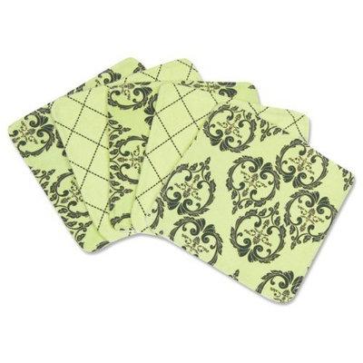 Trend Lab Vintage Wash Cloth Set, Green/Black, 5 Count (Discontinued by Manufacturer)