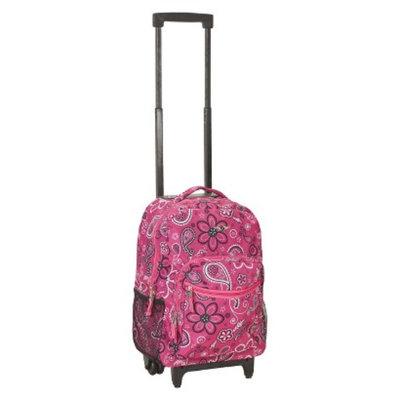 Fox Luggage ROCKLAND 17 ROLLING BACKPACK BANDANA