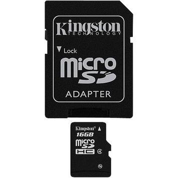 Kingston SDC4/16GB microSDHC Flash Card - 16GB, Class 4, Adapter