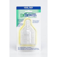 Dr. Brown's Natural Flow Level 2 Wide Neck Nipple, 3 Pack (Discontinued by Manufacturer)