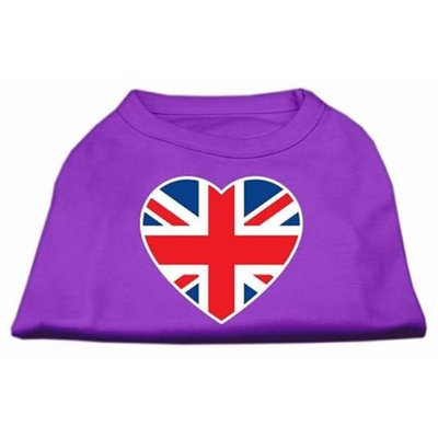 Ahi British Flag Heart Screen Print Shirt Purple Sm (10)